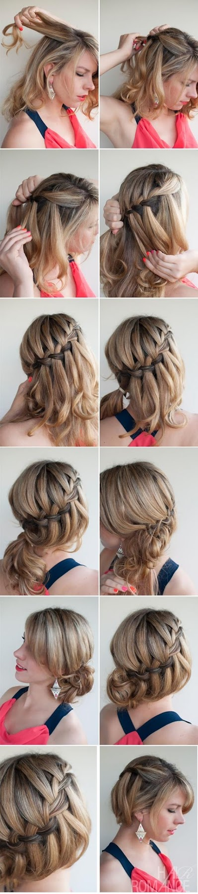 diy prom hairstyles : Hair And Fashion: Make A Diy Waterfall Braided Bun