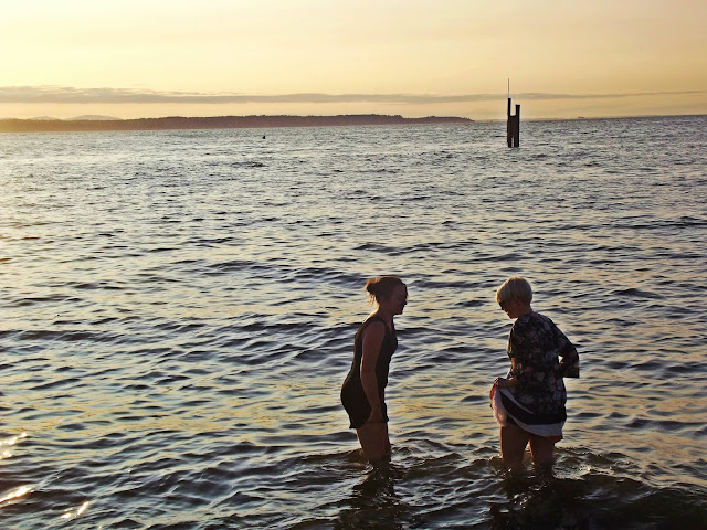 wading, beach, seattle, summer, dresses, boho