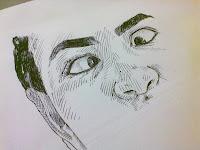 Cíntia Andrade - desenho com caneta esferográfica - 40%