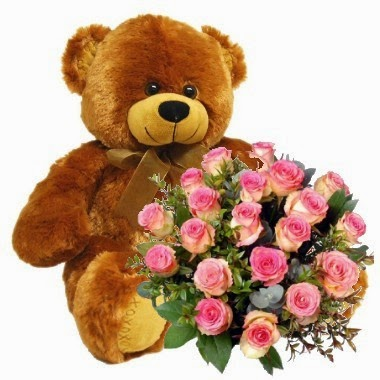 Flowers & Big Teddy delivery in Uruguay