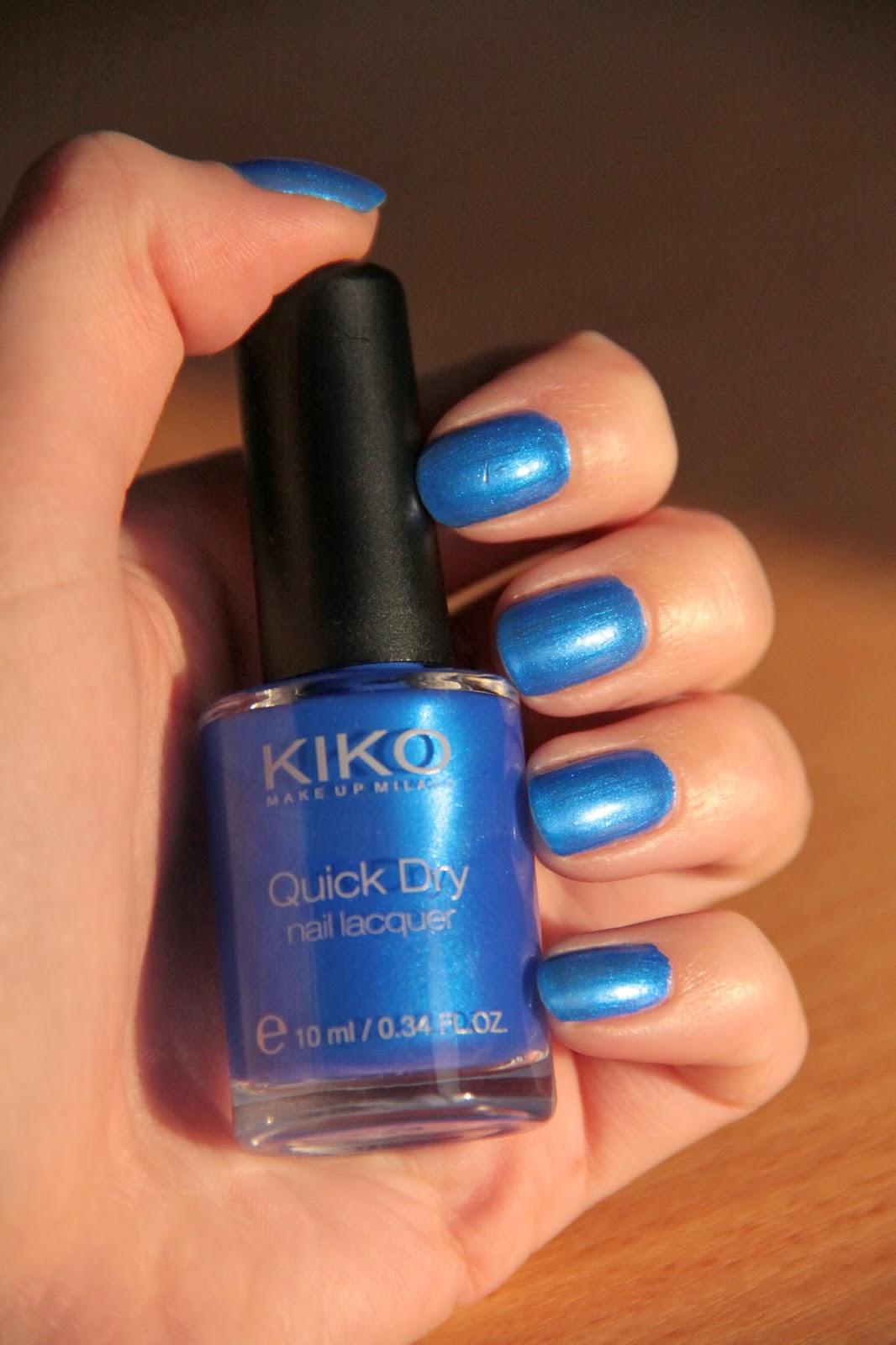 Vernis Kiko bleu électrique quick dry 830 metallic blue