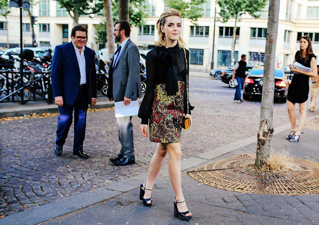 Kiernan Shipka at Paris Couture Week, 2015