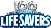 100 years life savers logo