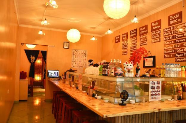 Buffet sushi Nhật nhà hàng Aozora