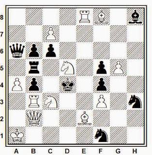 Problema de mate en 2 compuesto por D. A. Rozijn (Probleemblad, 1980)