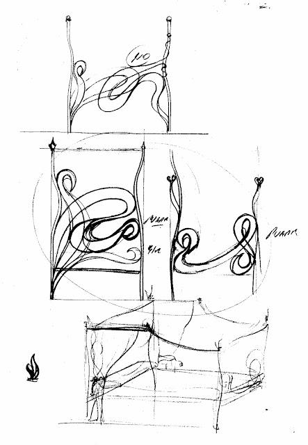 Proyecto de creación de una cama de forja y un cabecero de forja