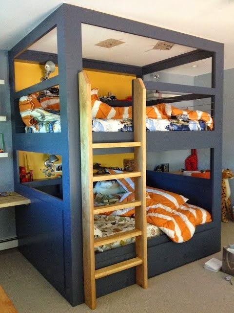 L Shaped Bunk Beds Twin Over Full Beliche infantil: Dicas para o quarto das crianças ...