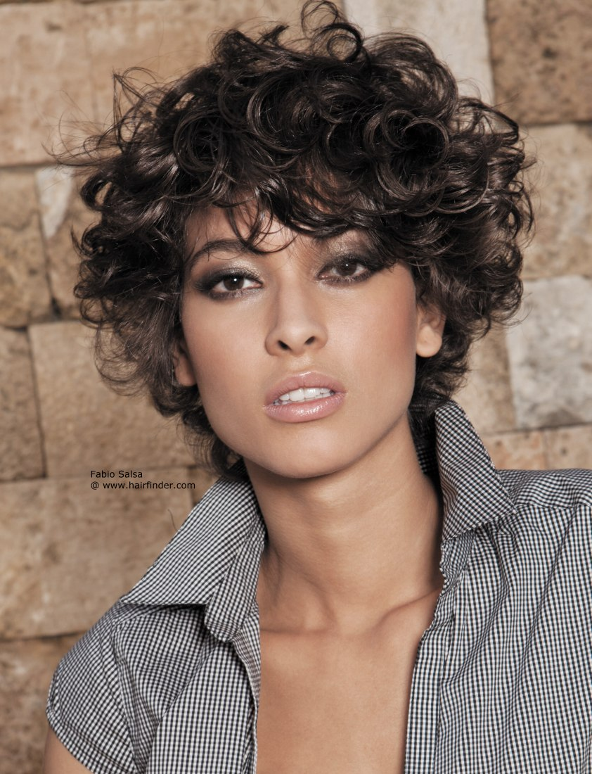 The Cool Short Curly Hairstyles Back View Picture