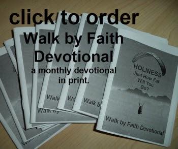 Walk by Faith Devotional