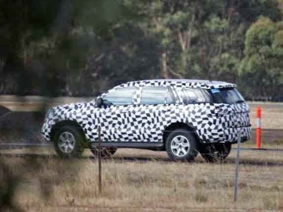 2015 Toyota Fortuner Spy Shot