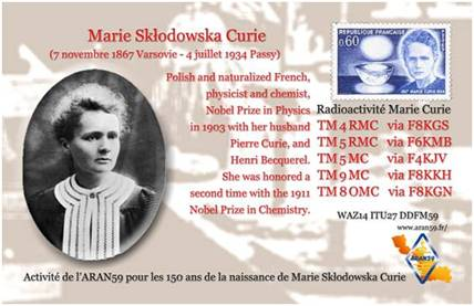 150th Birthday of Maria Skłodowska-Curie