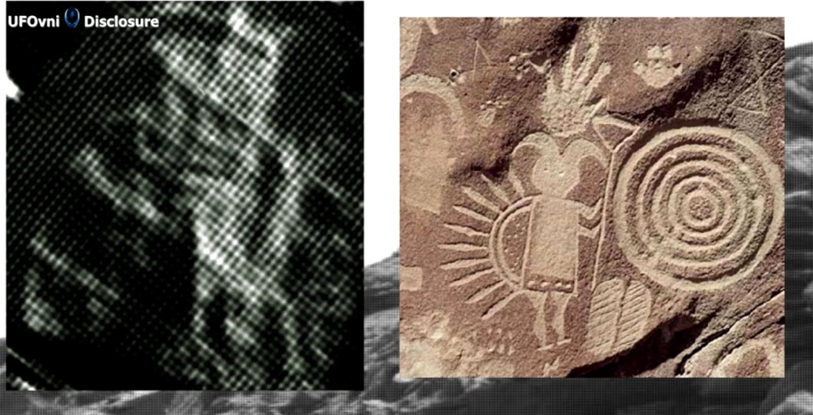 Ancient Aliens sur Mars: Ancient Petroglyph de Hunter animal trouvé?