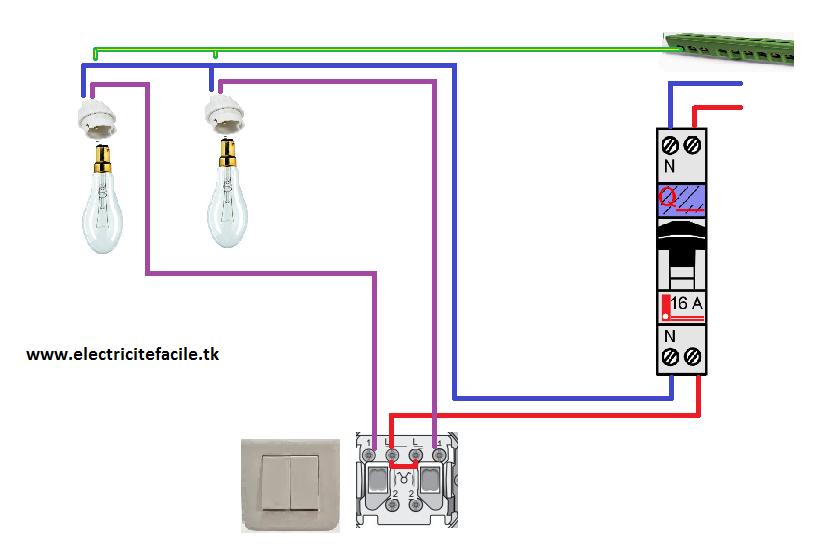 Installer un va et vient avec 2 interrupteurs double deux for Installer un va et vient avec 2 interrupteurs