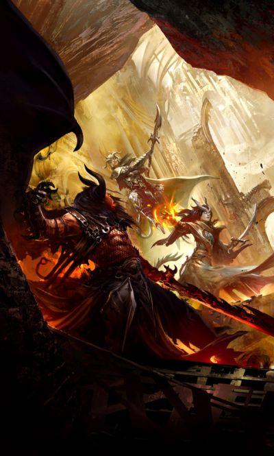 Kekai Kotaki ilustrações arte conceitual fantasia batalhas lutas