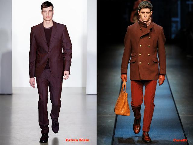 Tendencia otoño_invierno 2013-14 color burdeos: Calvin Klein y Canalli