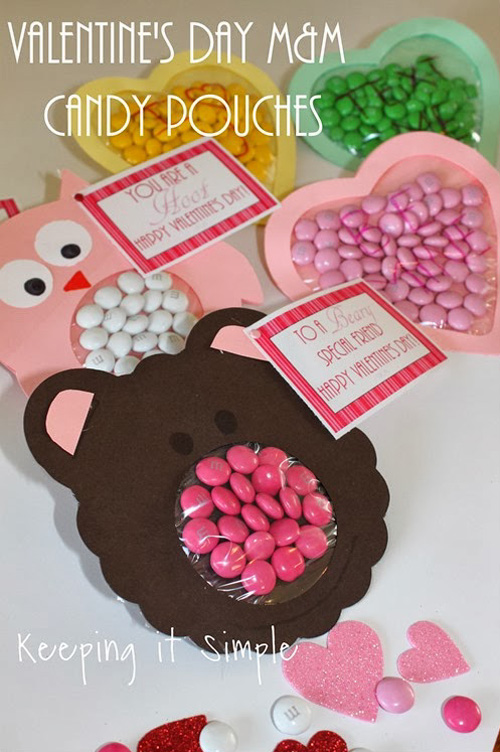 My owl barn 10 easy valentine 39 s day crafts for Valentine candy crafts ideas