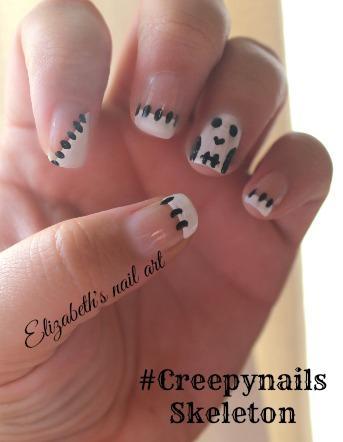 diseño esqueletos en tus uñas