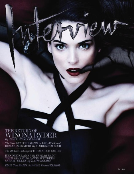 Winona Ryder Interview Magazine May 2013