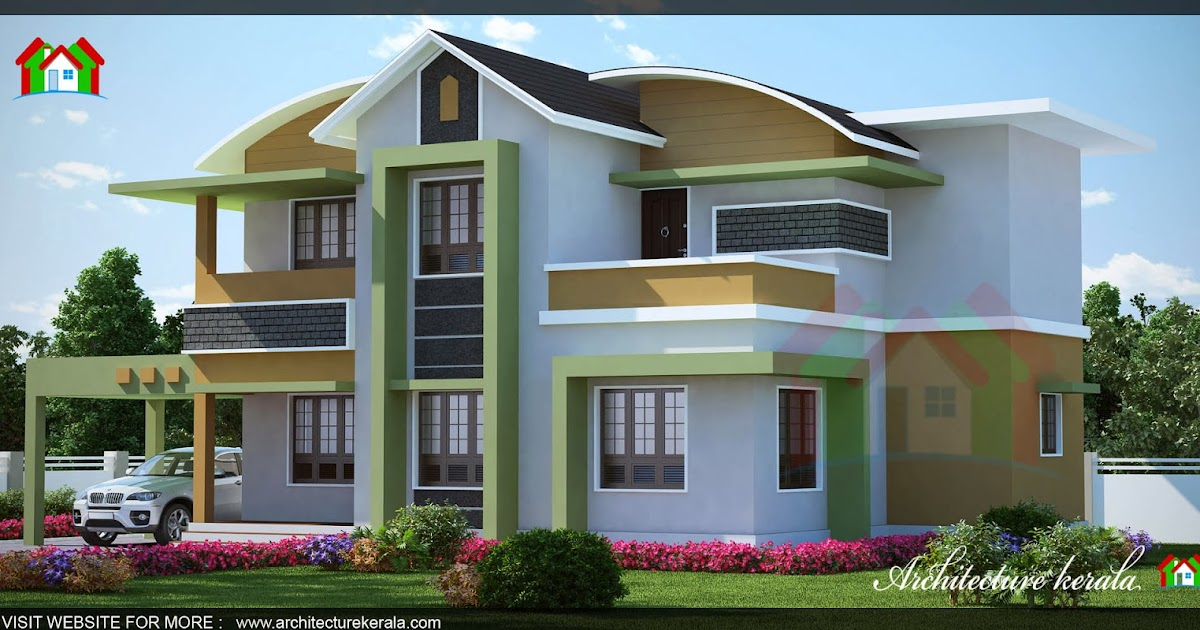 1500 square feet kerala house 3d elevation architecture for 1500 square foot house