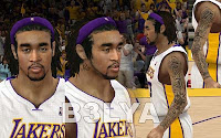 NBA2K12 LA Lakers Cyberface Patches Ebanks