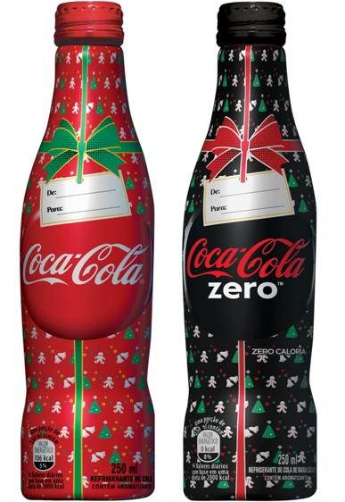 Embalagens comemorativas Coca-Cola natal