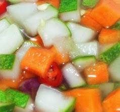cara membuat acar mentimun, wortel, bawang merah