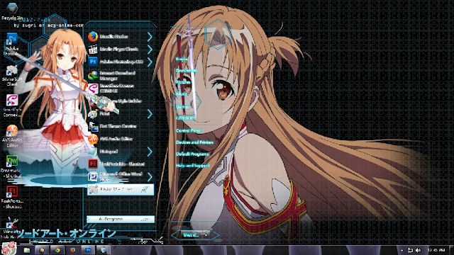 anime themes for pc computer Sword Art Online
