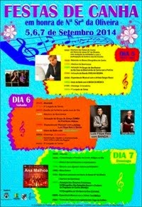 Canha(Montijo)- Festas em Hª de Nª Srª da Oliveira 2014- 5 a 7 Setembro