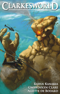 Cover, titled Rockman by Arthur Wang, of Clarkesworld magazine, January 2012 issue