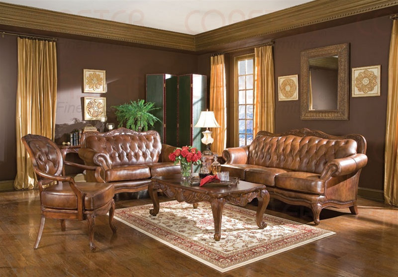 Victoria Leather Living Room Set (5 Image)