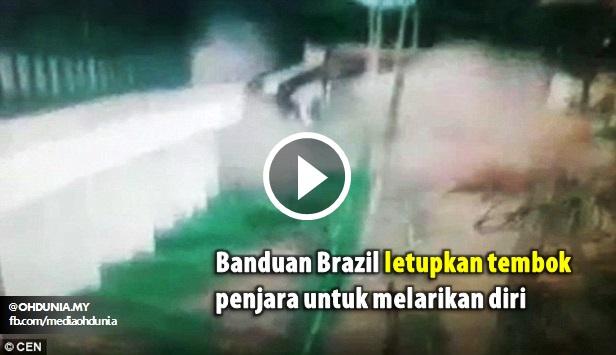 Video: Banduan Letupkan Tembok Penjara Untuk Larikan Diri