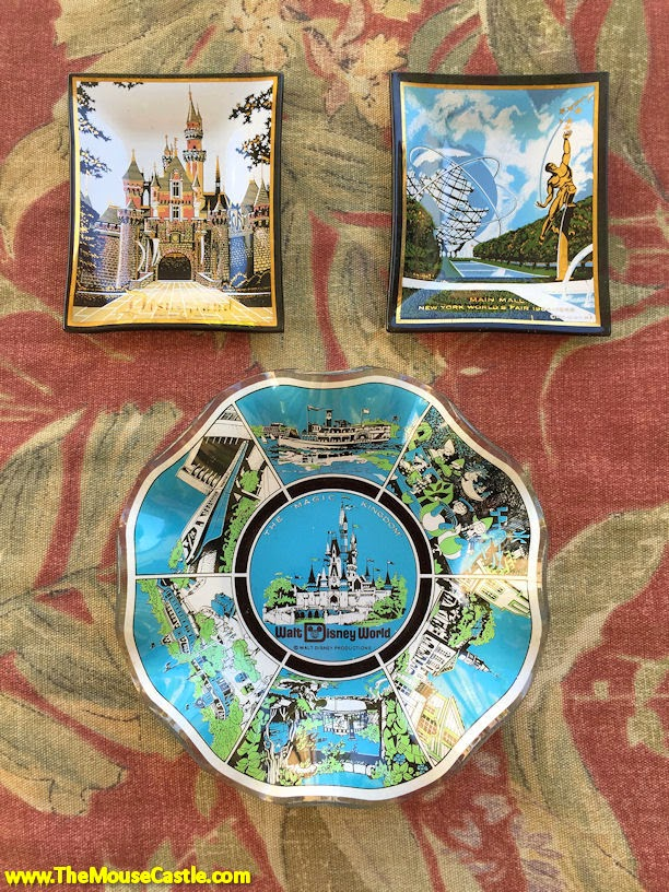 Ashtrays from Disneyland and Walt Disney World
