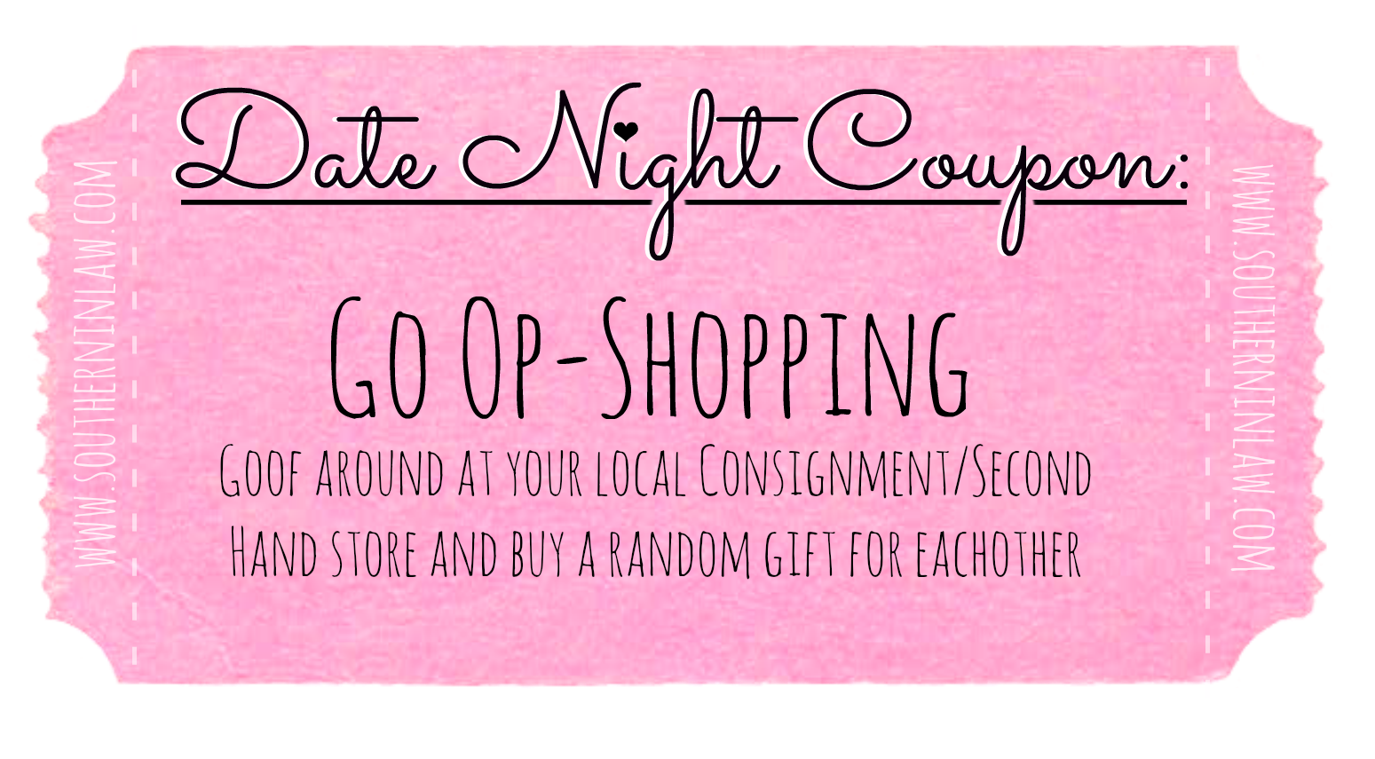 Affordable Date Ideas - Cheap Date Ideas Coupons - Go Op-shopping
