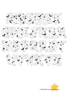 letras con murcielagos de halloween