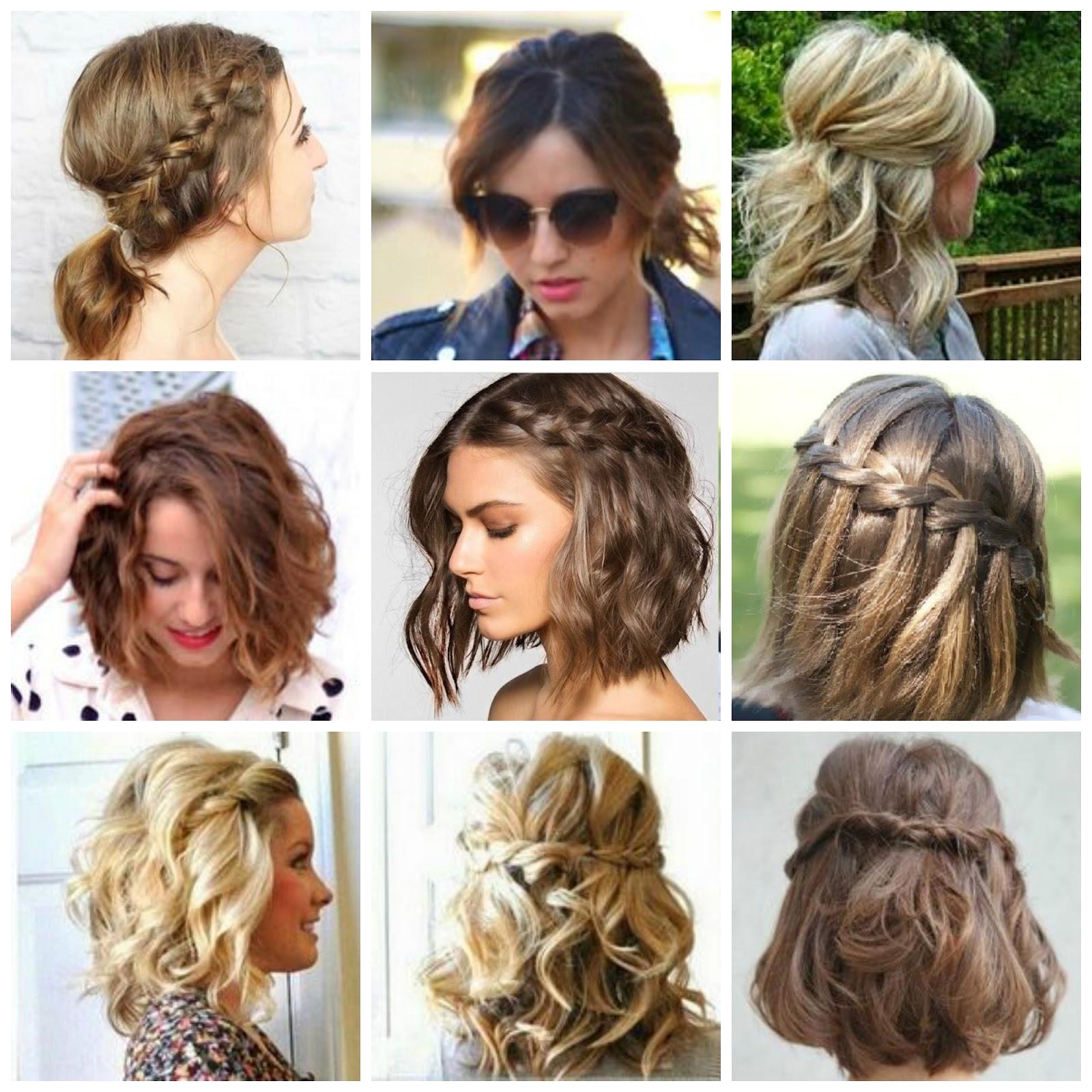 Peinados con trenzas para cabello corto faciles