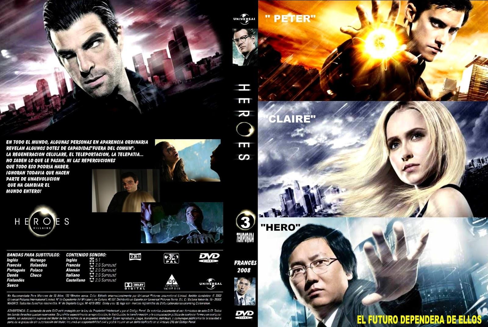Heroes (Temporada 3) (DVD 01/06) (DVD COVER) - COVERGOODPELIS