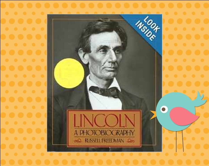 http://www.amazon.com/Lincoln-Photobiography-Houghton-Mifflin-studies/dp/0395518482/ref=sr_1_1?s=books&ie=UTF8&qid=1397695854&sr=1-1&keywords=lincoln+a+photobiography