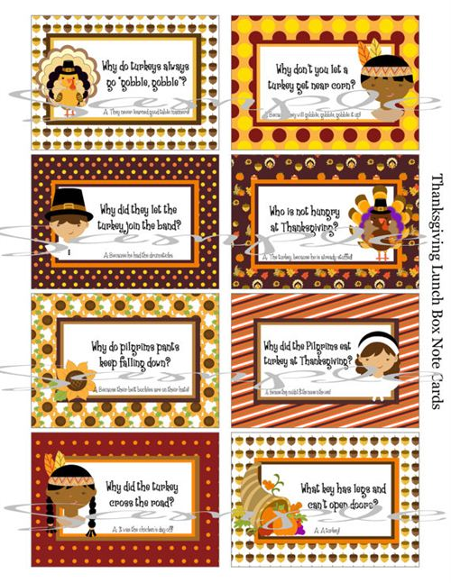Unique Printable Thanksgiving Jokes For Kids