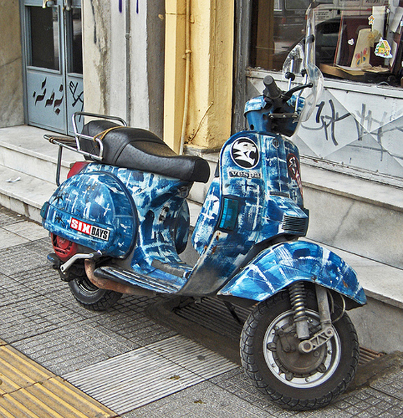 Painted Vespa Bike Art car Central