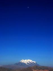 Illimani con luna (Bolivia)