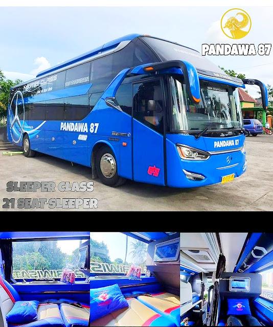 Sleeper bus dari Pandawa 87
