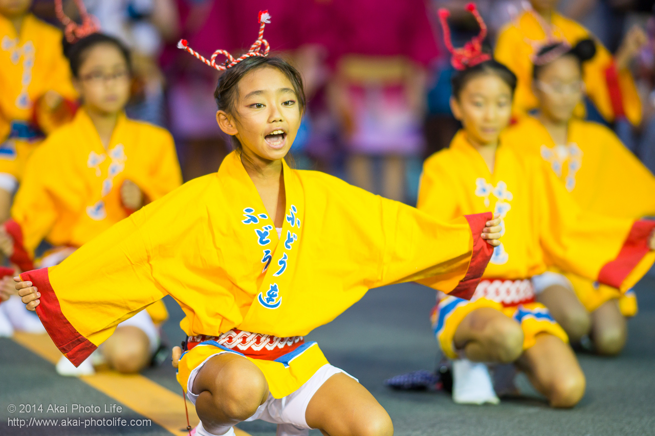 富道連 子供踊り