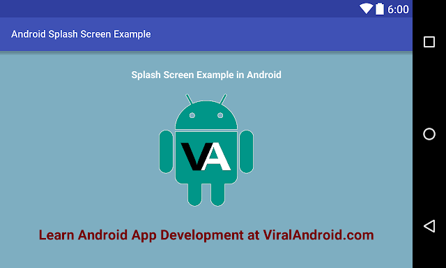 Android Example: How to Make/Create a Splash Screen in Android App