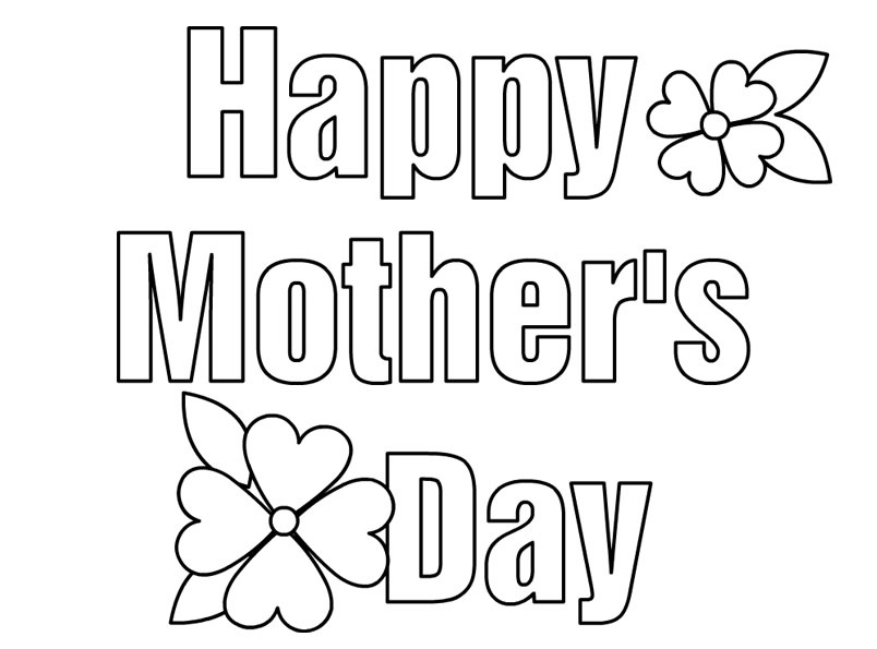 Happy mothers day coloring pages for kids