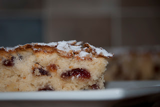 Homemade cherry cake