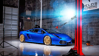 Blue Lamborghini Gallardo ADV10 HD Wallpaer