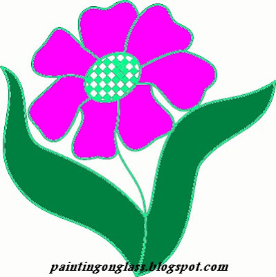 Stained Glass Flower Pattern