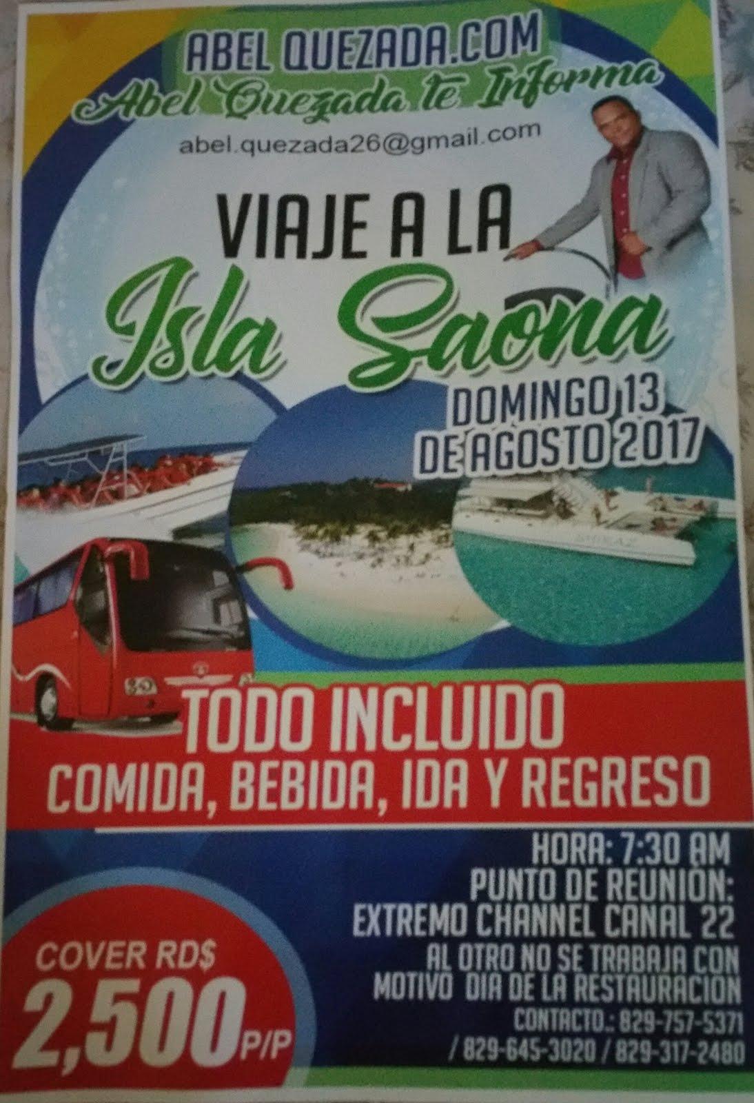 Viaje a la Isla Saona con AbelQuezada