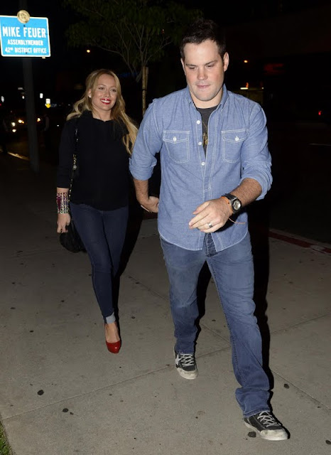 Hilary Duff - Boa Steakhouse  In Los Angeles