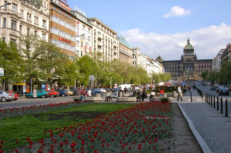Wenceslas-pladsen i Prag